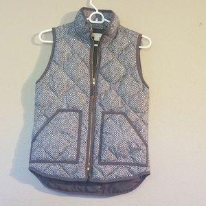 Gray White J.Crew Size XXS Vest